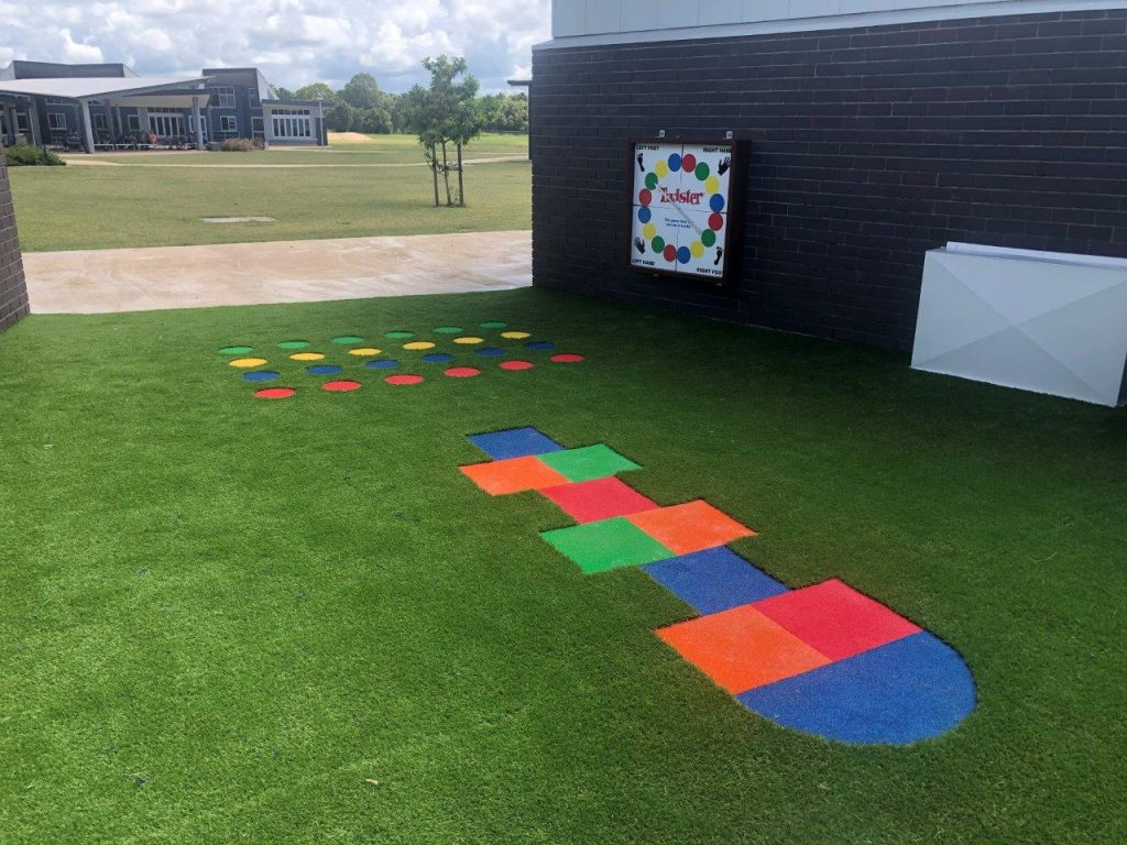 Hopscotch school learning spaces by North Queensland Landscaping Team PW Landscapes