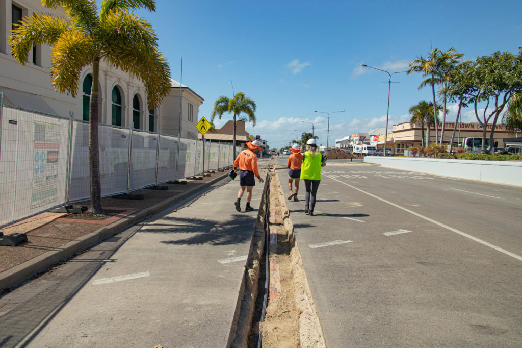 Underground services along Herbert Street in Bowen for the Beautiful Bowen project