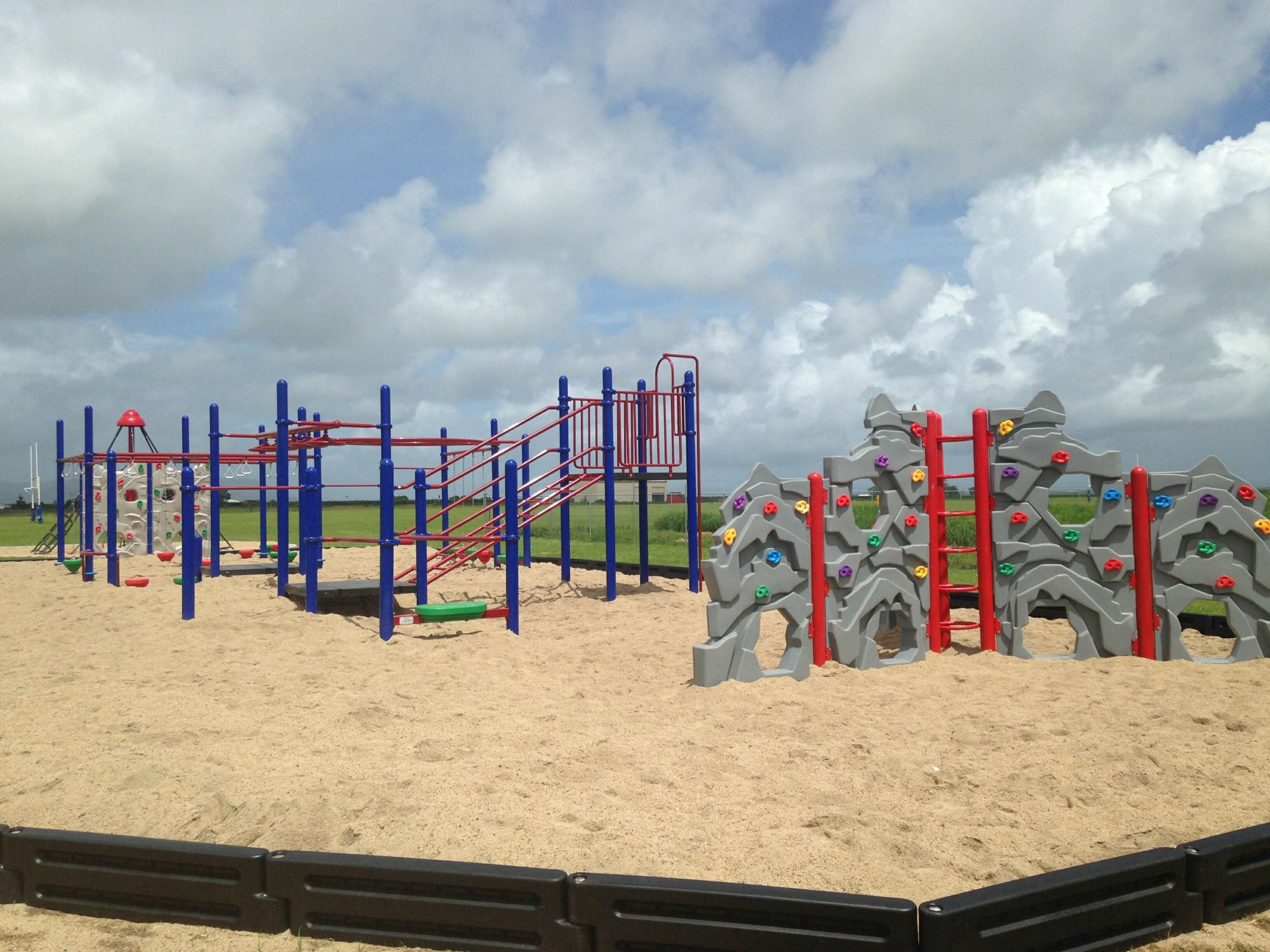 Example playground installation by Plants Whitsunday Landscaping North Queensland