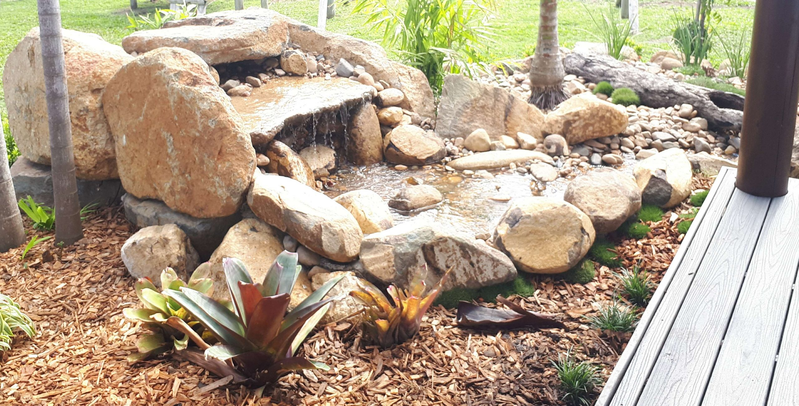 Water features and water falls by the landscaping team at Plants Whitunday in North Queensland