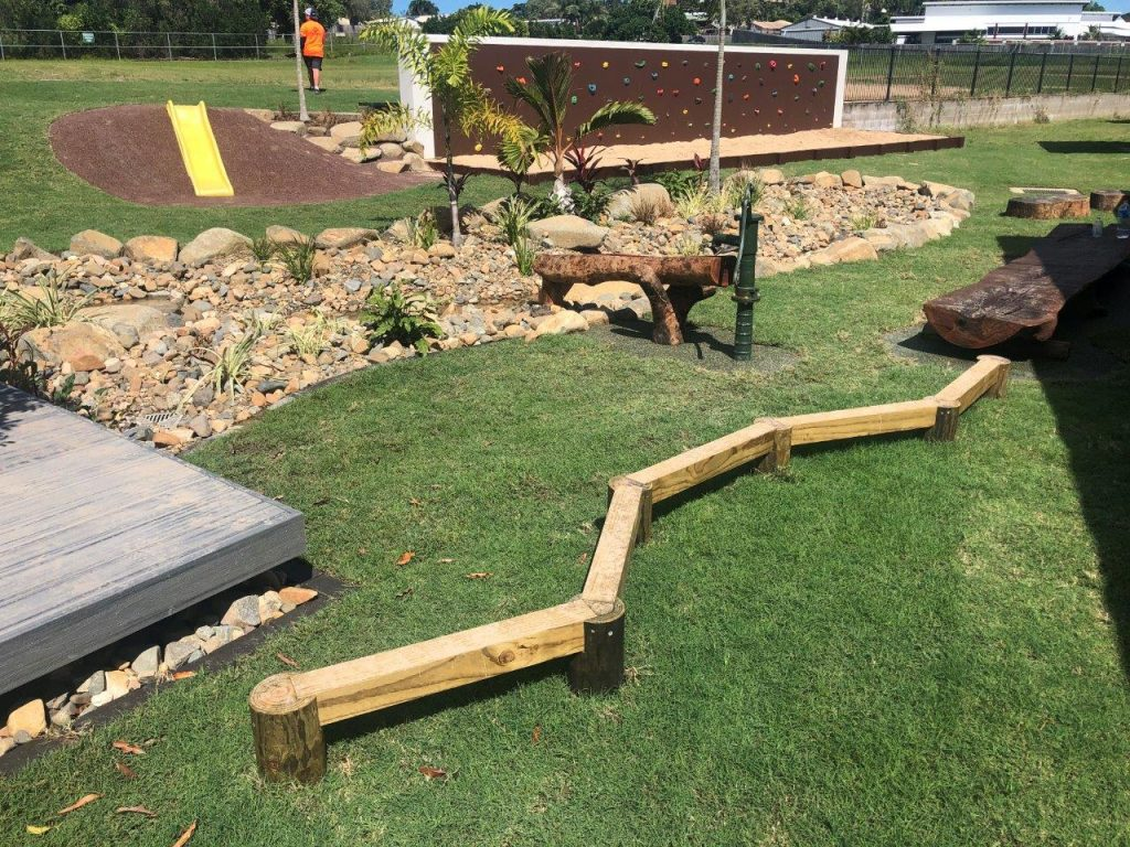 balance beam school learning spaces by North Queensland Landscaping Team PW Landscapes
