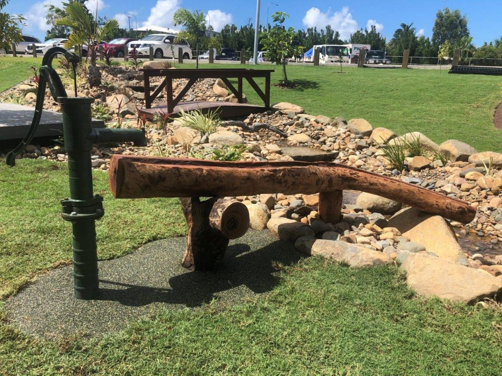 hand pump for kids school learning spaces by North Queensland Landscaping Team PW Landscapes