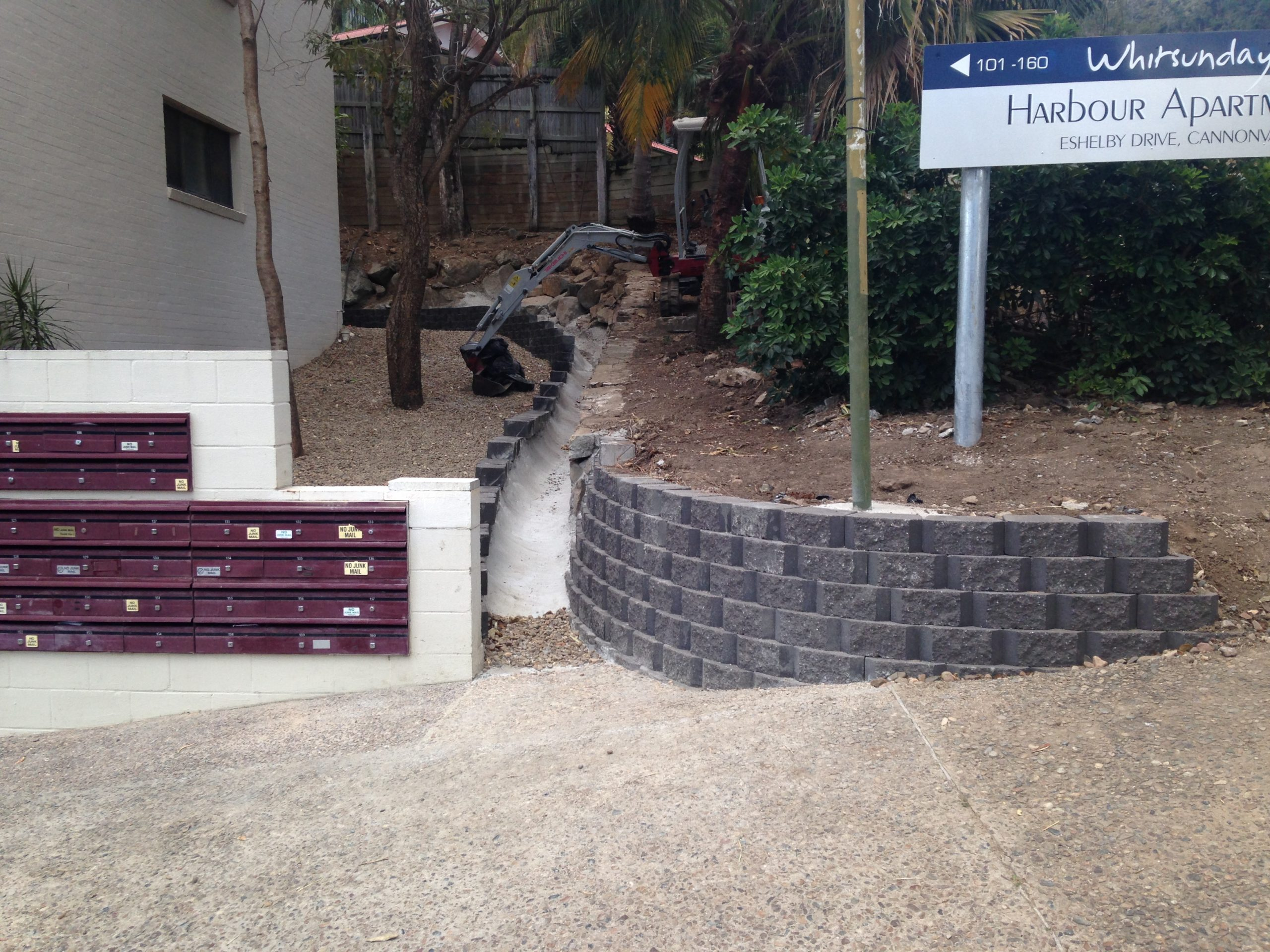 Drainage by PW Landscape, North Queensland Commercial landscape