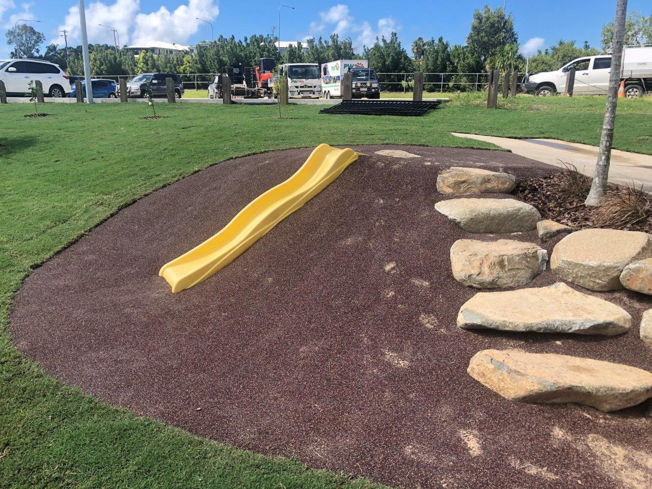 Slide learning spaces by North Queensland Landscaping Team PW Landscapes